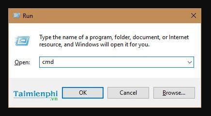 Vào khung command Prompt để đổi ip động