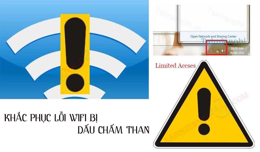 Wifi bị dấu chấm than: 6 Cách kiểm tra và xử lý lỗi mạng thành công 100%